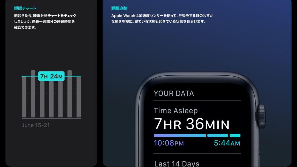 Apple Watch 睡眠