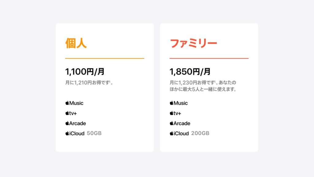 Apple One 料金