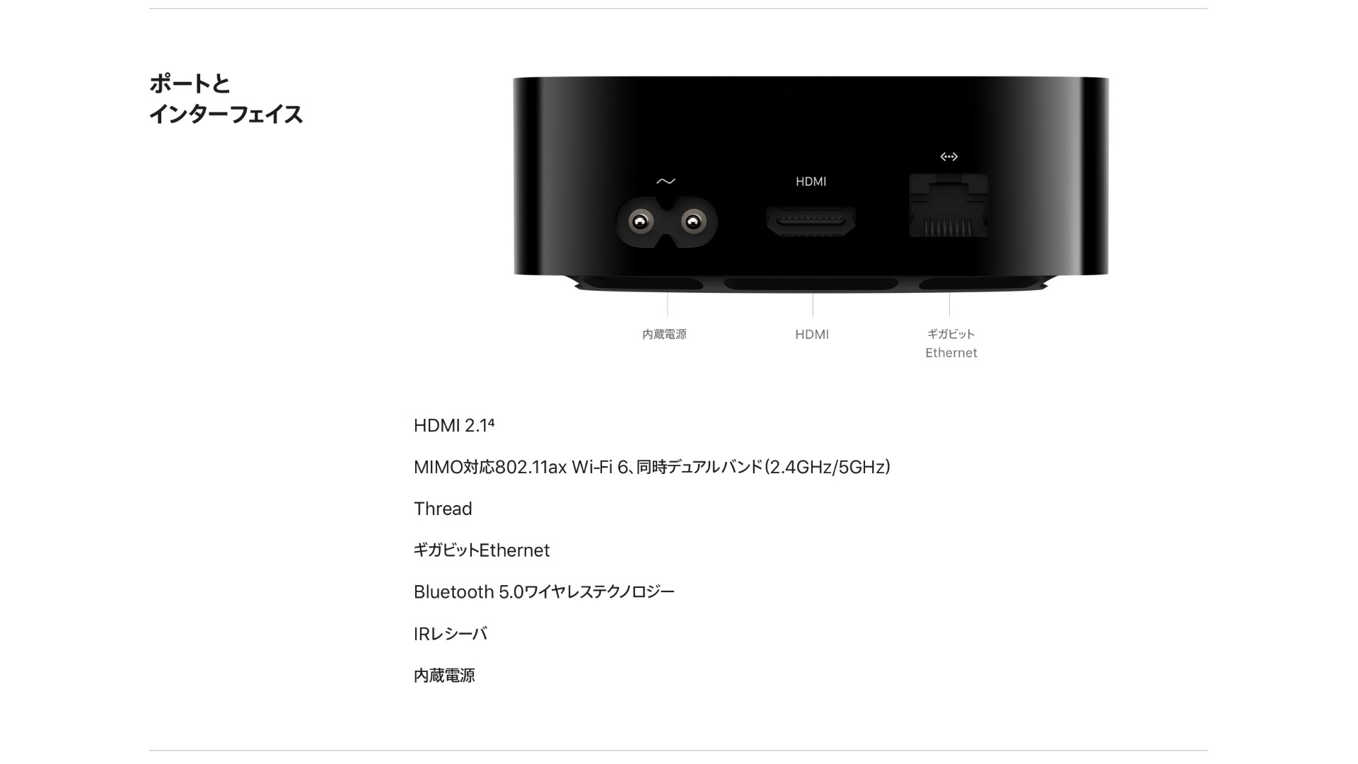 Apple TV 4K 第2世代 2021